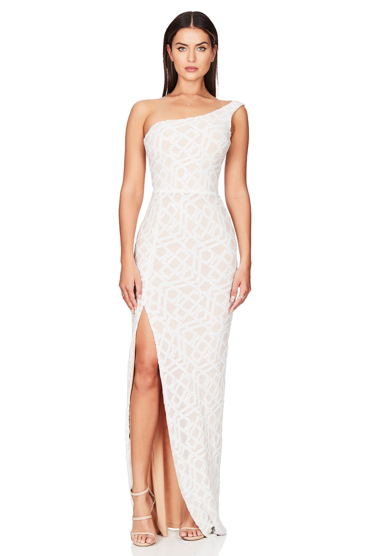 Nookie Eclipse Gown - White - SHOPJAUS - JAUS