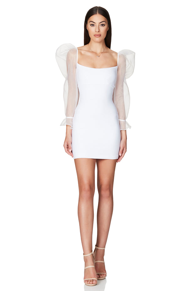 Nookie Eleganza Mini Dress - White - SHOPJAUS - JAUS
