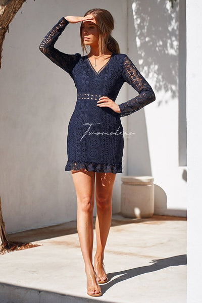 Emery Dress - Navy - SHOPJAUS - JAUS