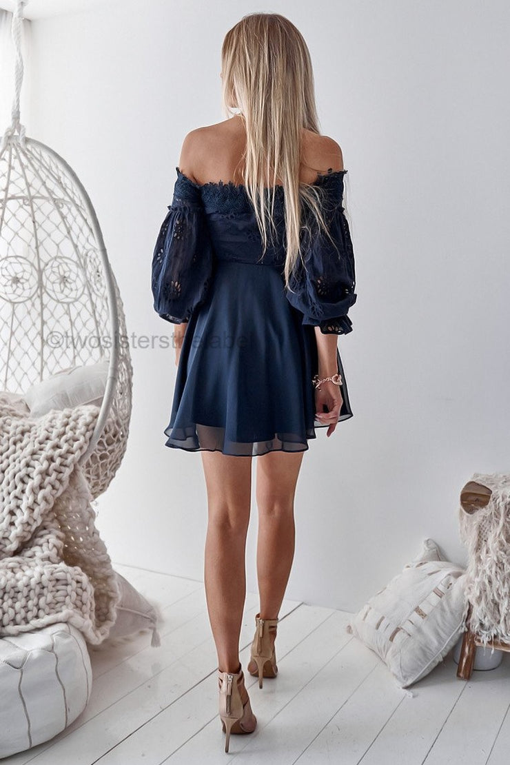 Emma Dress - Navy - SHOPJAUS - JAUS