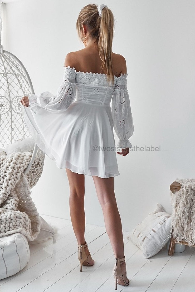 Emma Dress - White - SHOPJAUS - JAUS