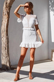 Elizabeth Dress - White - SHOPJAUS - JAUS