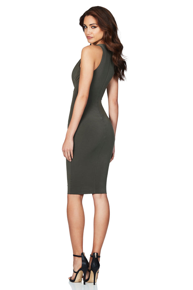 Nookie Entice Midi Dress - Khaki - SHOPJAUS - JAUS