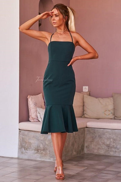 Eveleen Dress - Green - SHOPJAUS - JAUS