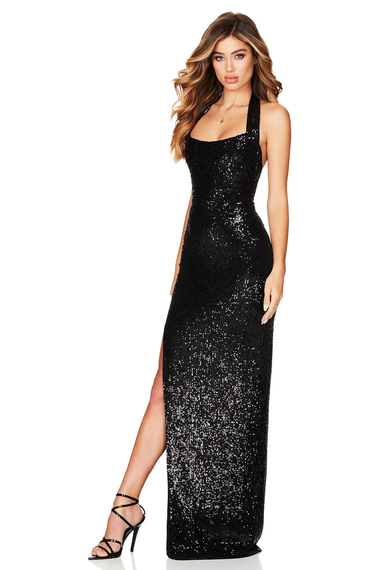 Nookie Fantasy Gown - Black - SHOPJAUS - JAUS