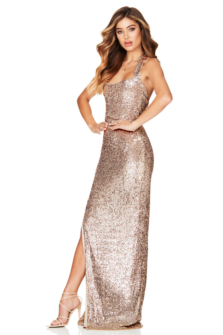 Nookie Fantasy Gown - Gold - SHOPJAUS - JAUS