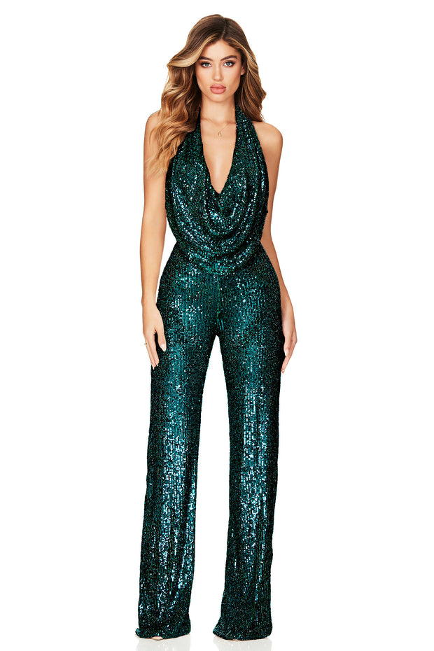 Nookie Fantasy Jumpsuit - Emerald Green
