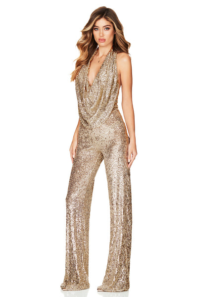 Nookie Fantasy Jumpsuit - Gold - SHOPJAUS - JAUS