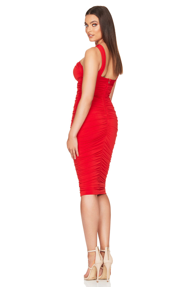 Nookie Farrah Midi Dress - Red