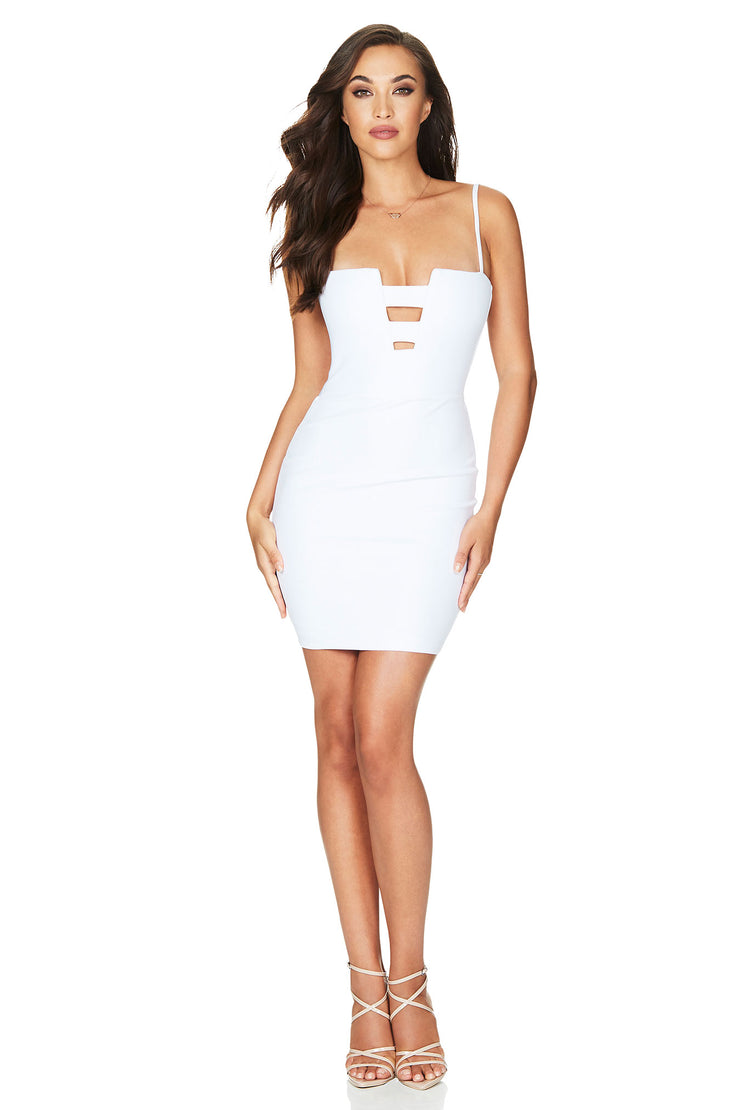 Nookie Flaunt Mini Dress - White - SHOPJAUS - JAUS