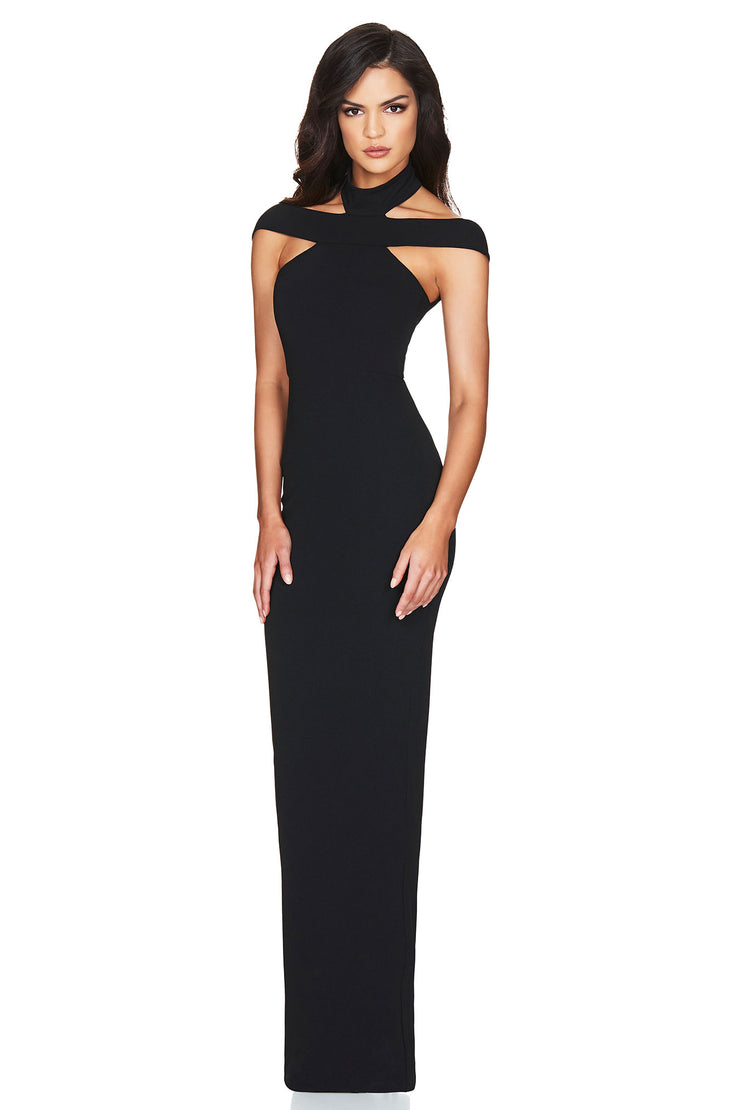Nookie Gabrielle Gown - Black - SHOPJAUS - JAUS