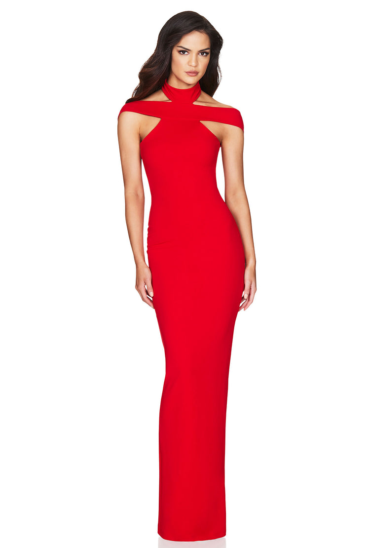 Nookie Gabrielle Gown - Red - SHOPJAUS - JAUS