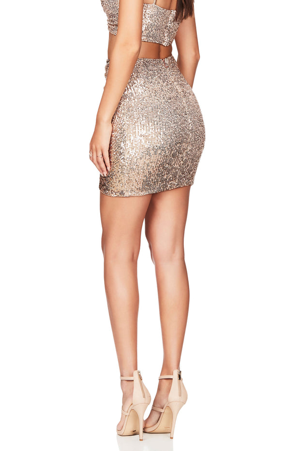 Nookie Galaxy Skirt - Gold - SHOPJAUS - JAUS