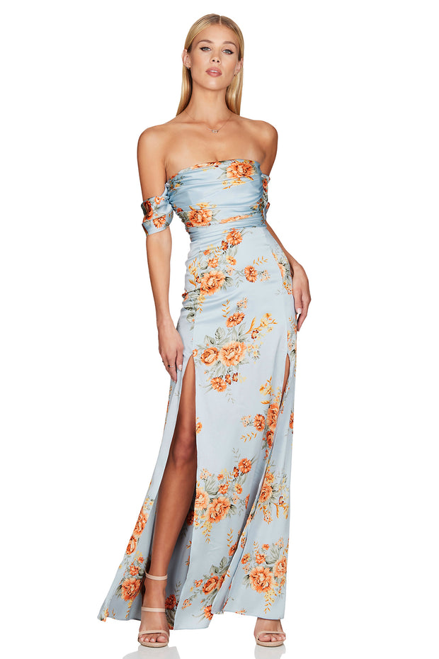 Nookie Garden Party Gown - Blue - SHOPJAUS - JAUS