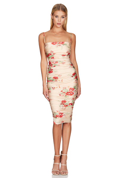 Nookie Garden Party Midi Dress - Blush - SHOPJAUS - JAUS