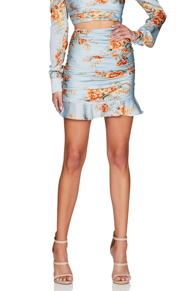 Nookie Garden Party Skirt - Blue - SHOPJAUS - JAUS