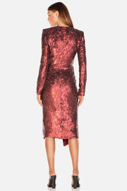 Misha Collection Neaky Sequin Dress - Wine - SHOPJAUS - JAUS