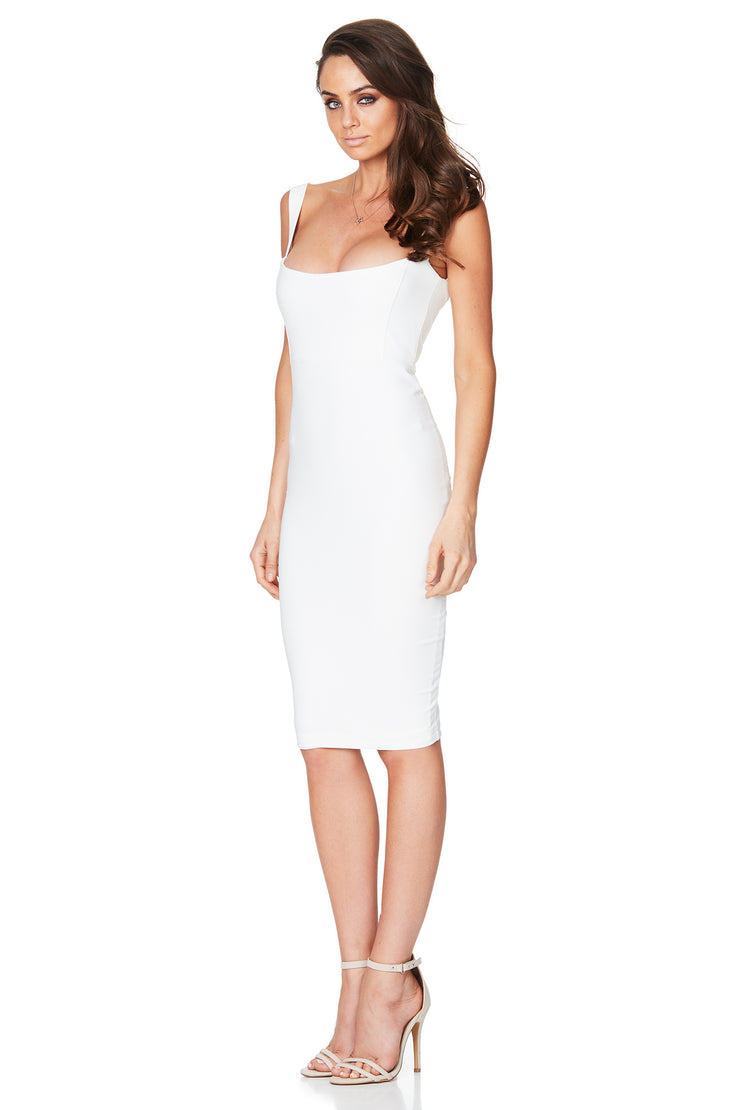 Nookie Glamour Midi Dress - Ivory - SHOPJAUS - JAUS