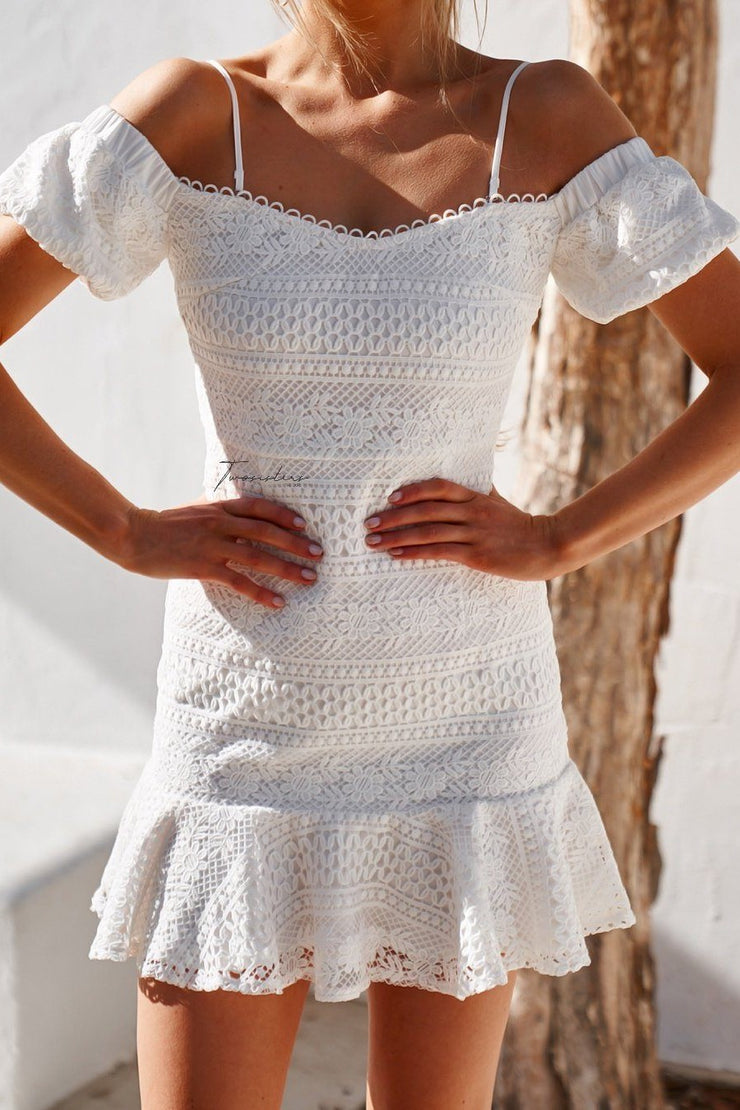 Gabriella Dress - White - SHOPJAUS - JAUS