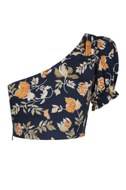 Autumn Fields Top - Navy Floral