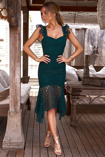 Giselle Dress - Emerald Green - SHOPJAUS - JAUS