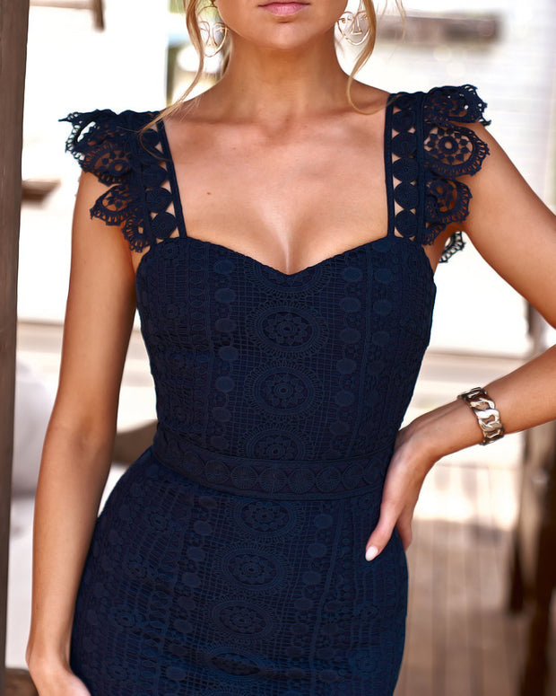 Giselle Dress - Navy - SHOPJAUS - JAUS