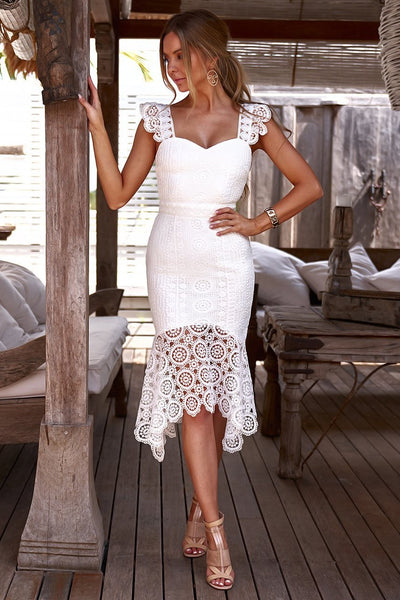Giselle Dress - White - SHOPJAUS - JAUS