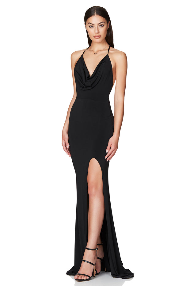 Nookie Harley Gown - Black - SHOPJAUS - JAUS