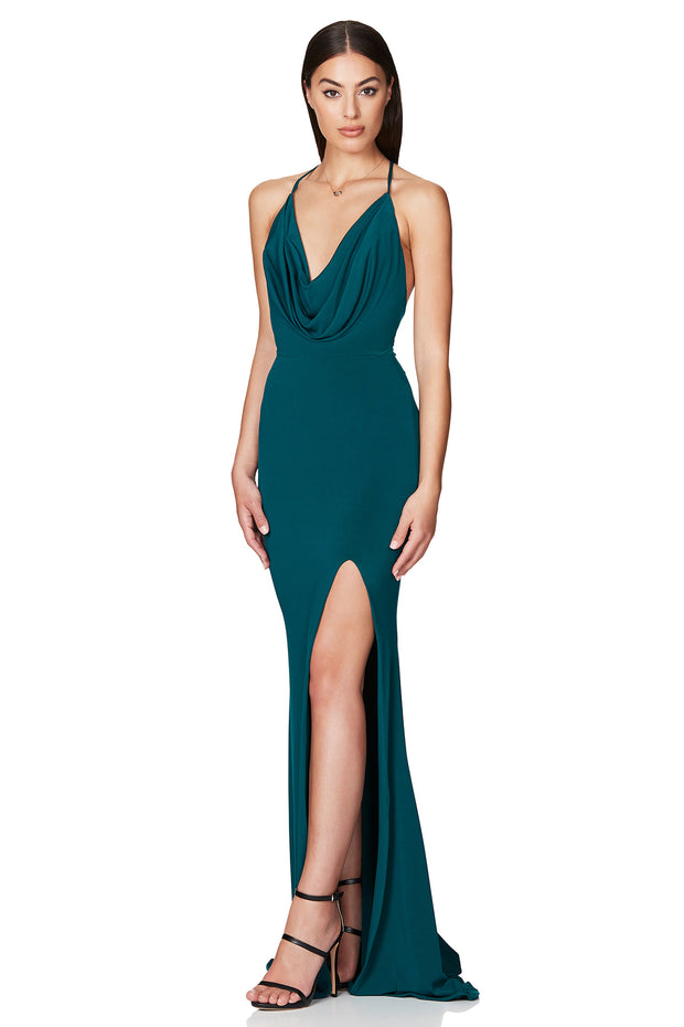 Nookie Harley Gown - Teal - SHOPJAUS - JAUS