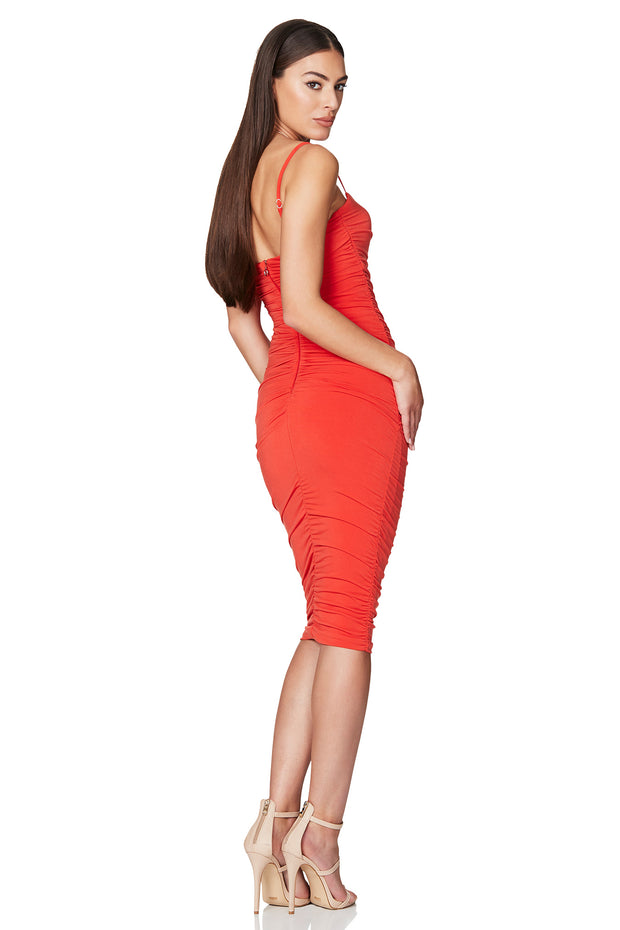 Nookie Harley Midi Dress - Tangerine