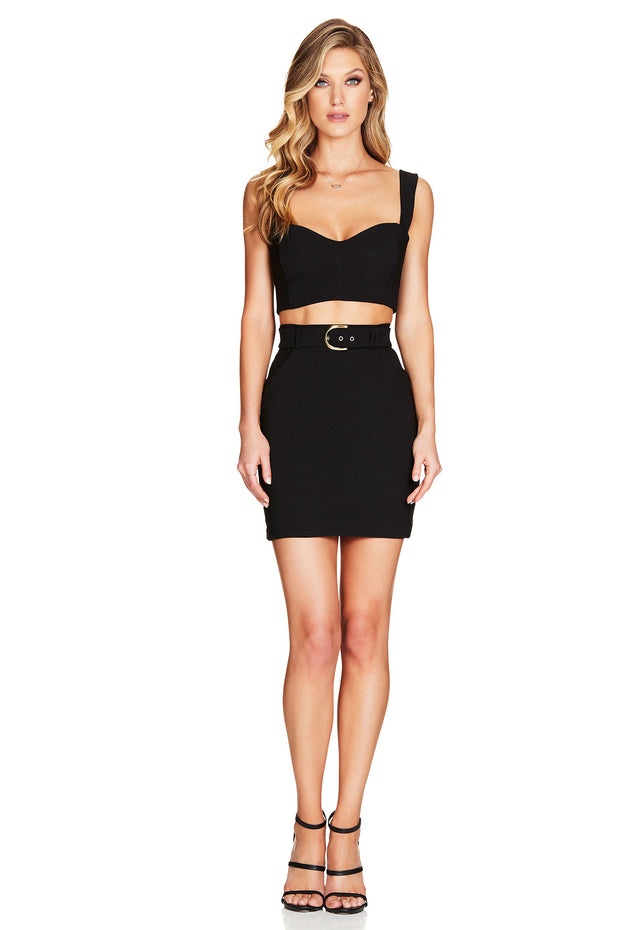 Nookie Wink Crop - Black - SHOPJAUS - JAUS