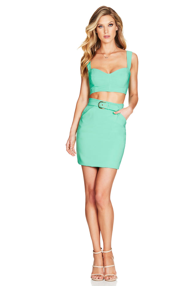 Nookie Wink Skirt - Mint - SHOPJAUS - JAUS