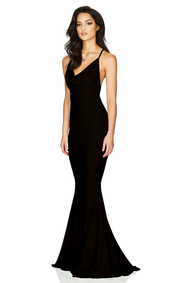 Nookie Hustle Maxi Dress - Black
