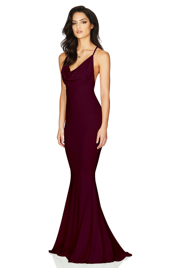 Nookie Hustle Maxi Dress - Wine - SHOPJAUS - JAUS