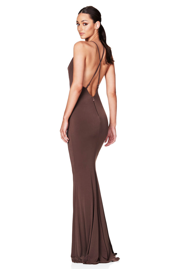 Nookie Hustle Maxi Dress - Mocha
