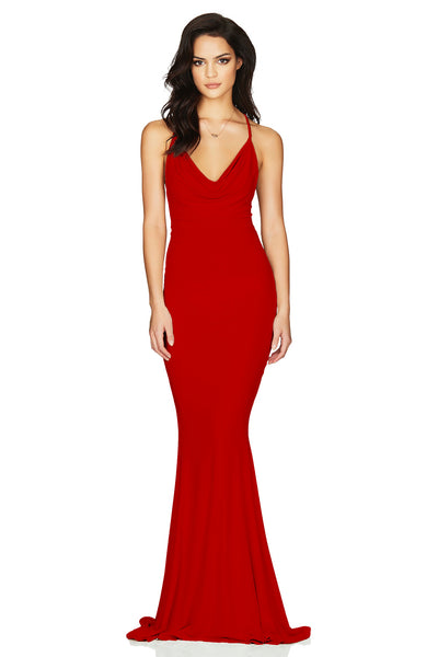 Nookie Hustle Maxi Dress - Red - SHOPJAUS - JAUS