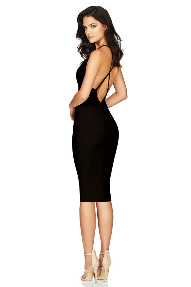 Nookie Hustle Midi Dress - Black