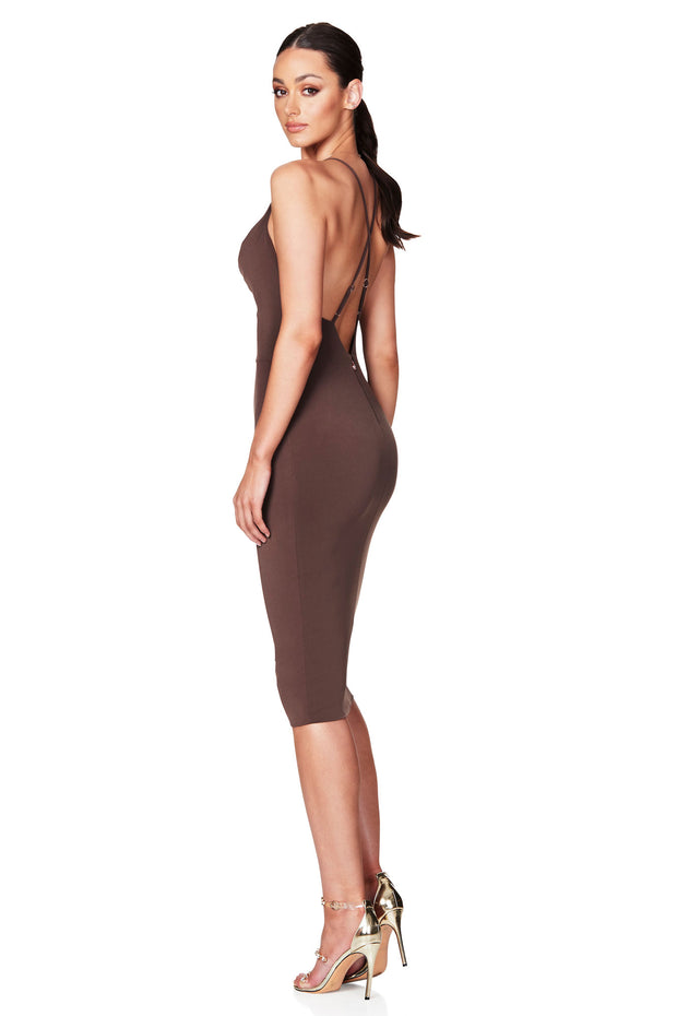Nookie Hustle Midi Dress - Mocha