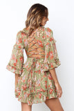 Cherry Blossom Dress - Khaki - SHOPJAUS - JAUS