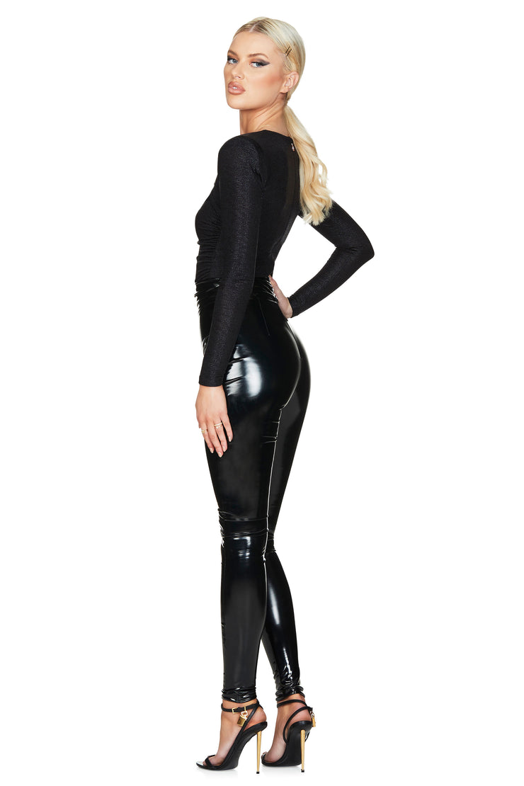 Nookie Viktoria Pants - Black Shiny