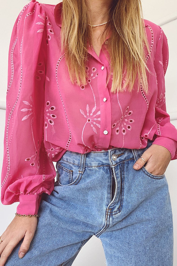 Eloise Blouse - Flamingo