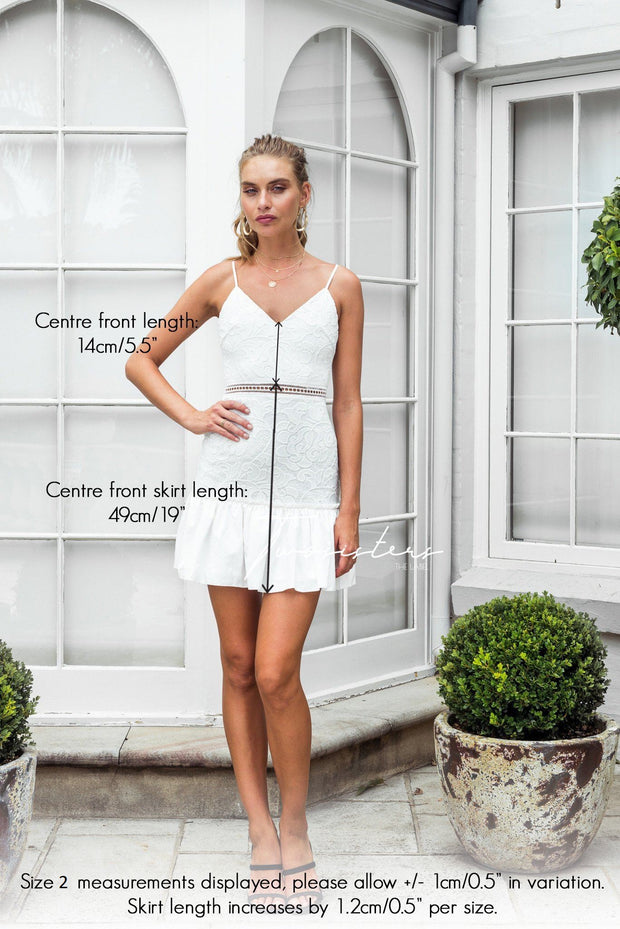 Jade Dress - White - SHOPJAUS - JAUS