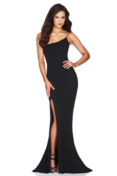 Nookie Jasmine One Shoulder Gown - Black - SHOPJAUS - JAUS