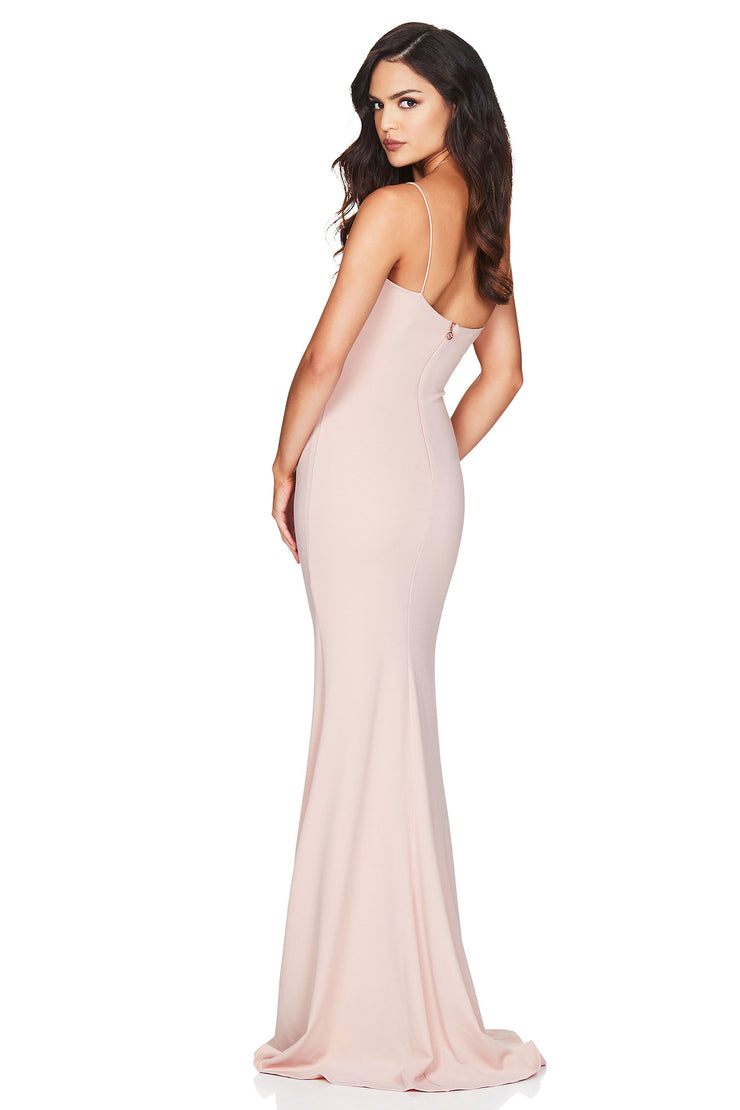 Nookie Jasmine One Shoulder Gown - Blush - SHOPJAUS - JAUS