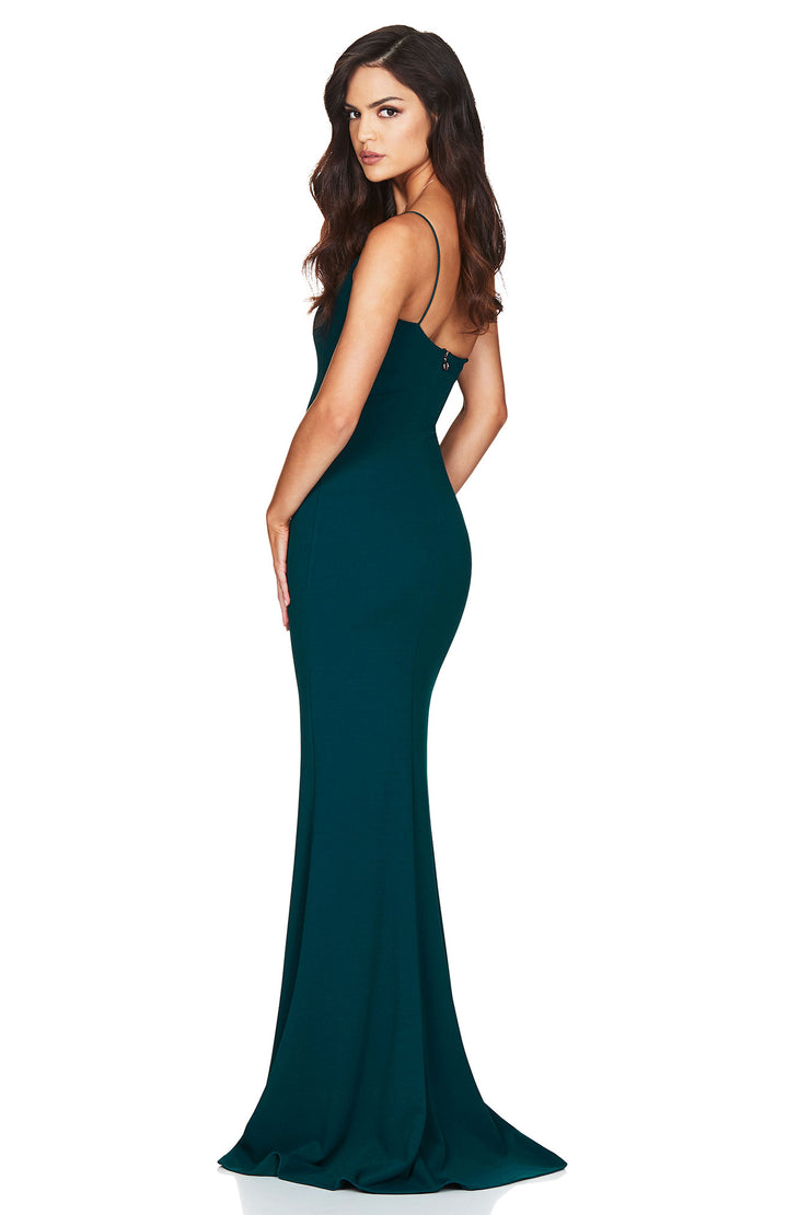 Nookie Jasmine One Shoulder Gown - Teal - SHOPJAUS - JAUS