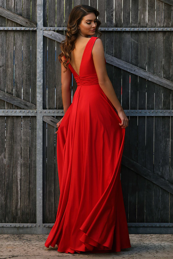 Harlow Gown - Red - SHOPJAUS - JAUS