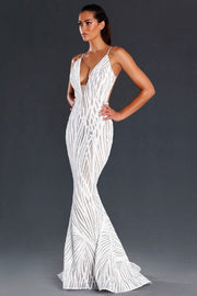 Jadore JX098 Jennifer Dress - White - SHOPJAUS - JAUS