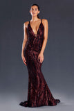 Jadore JX098 Jennifer Dress - Wine - SHOPJAUS - JAUS