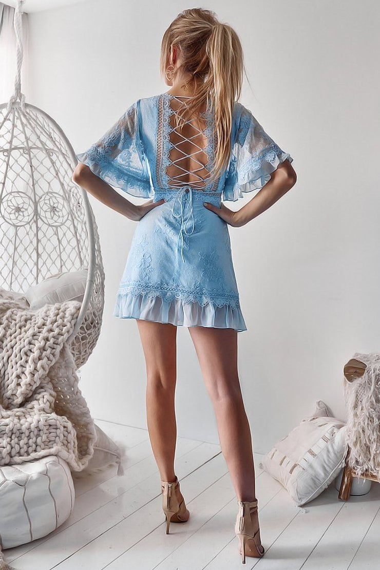 Jennie Dress - Baby Blue (PREORDER) - SHOPJAUS - JAUS