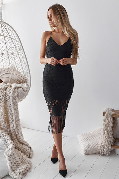 Khaleesi Dress - Black - SHOPJAUS - JAUS